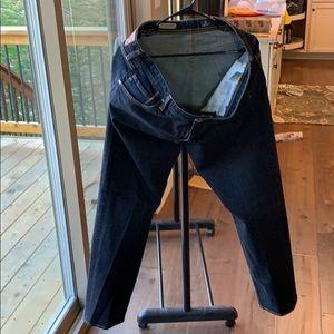AG denim men's 38x32 dark blue jeans